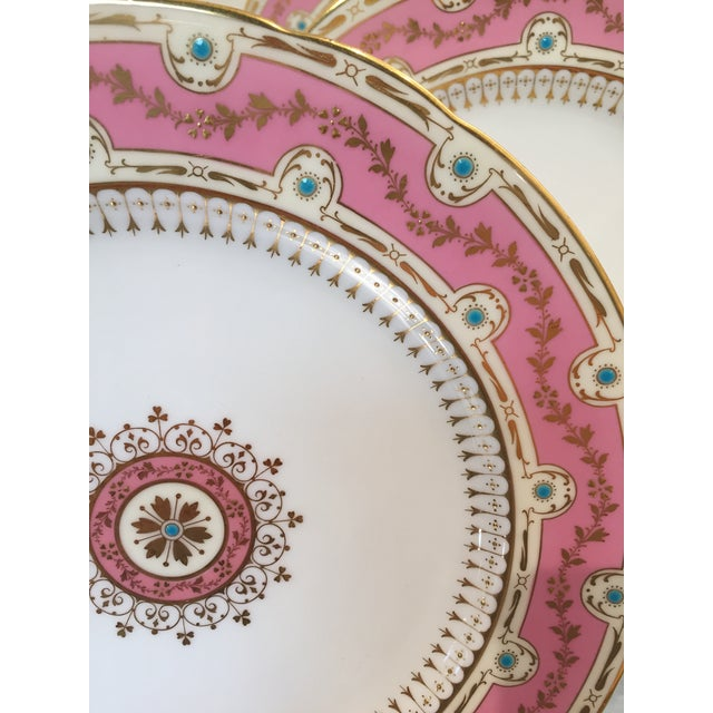 Cottage Early 20th Century Antique Minton for Tiffany Plates - Set of 12 For Sale - Image 3 of 9