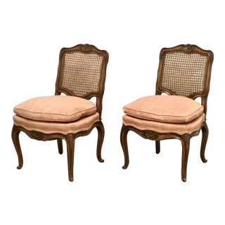 1950s Louis XV Style Slipper Chairs - a Pair For Sale