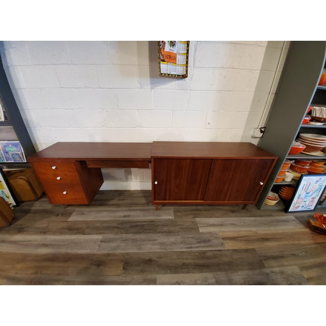 Mid-Century Modern Desk & Credenza - A Pair For Sale - Image 4 of 13
