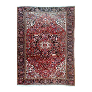 "Antique Persian Heriz Rug - 9' 11"" by 13' 1"" For Sale"