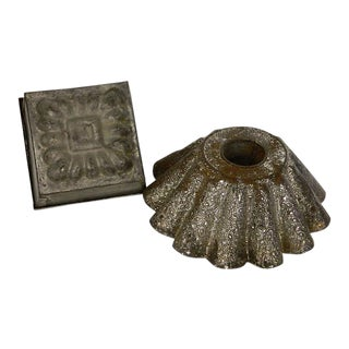 Antique French Kitchen Molds Decorative Kitchenware - A Pair For Sale