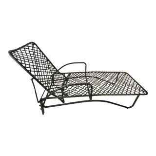 Mid-Century Brown Jordan Outdoor Chaise Lounge For Sale