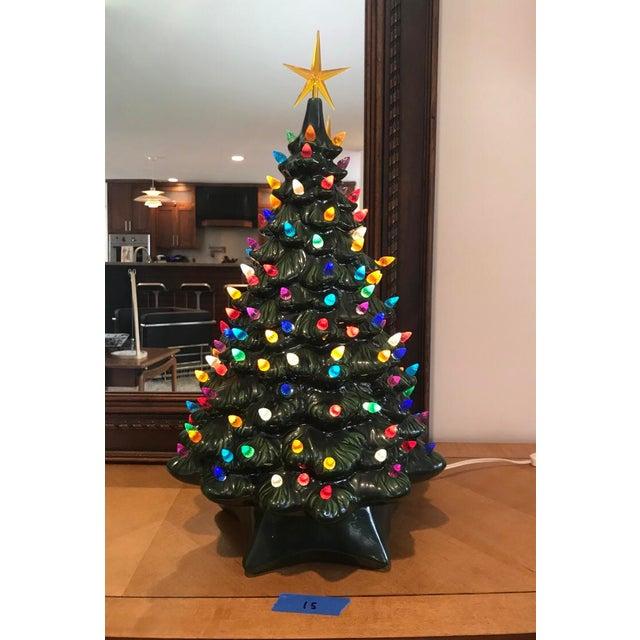 Ceramic Christmas Tree.Vintage Ceramic Christmas Tree