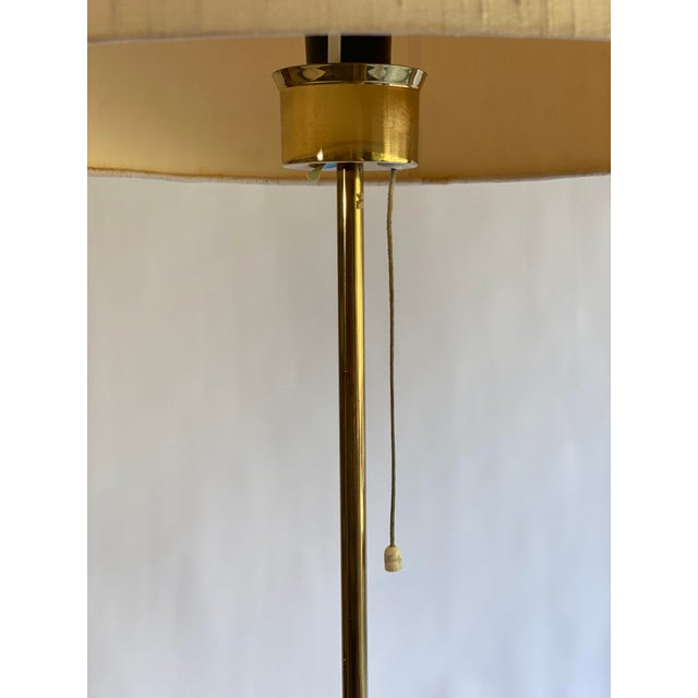 Brass Bergboms Model G-025 Brass Floor Lamp With Silk Shade For Sale - Image 8 of 12