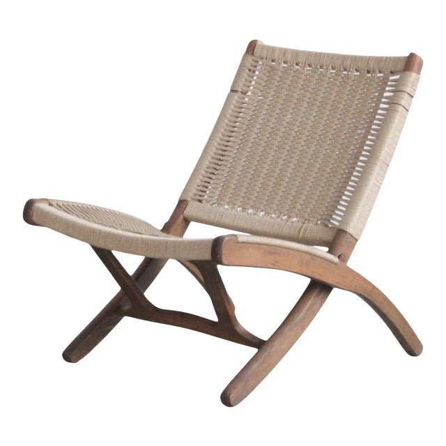 Early 20th Century Cord Lounge Chair For Sale
