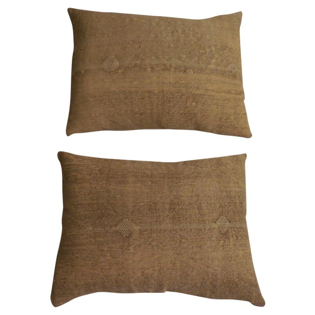Rug Fragment Geometric Cream Pillow - Pair - Image 1 of 11