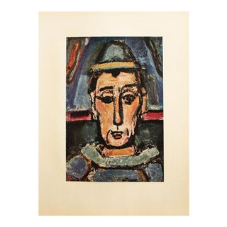 """1950s Georges Rouault, """"The English Clown"""" Original Period Lithograph For Sale"""