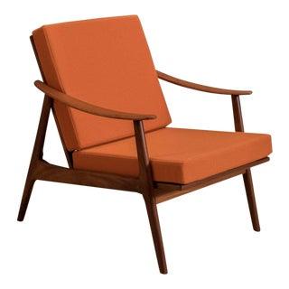 Vintage Scandinavian Teak Lounge Chair For Sale