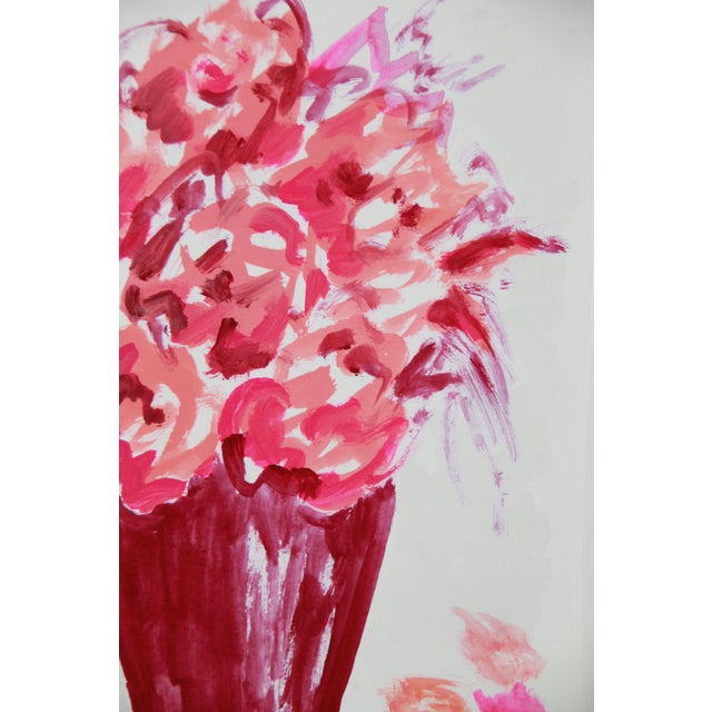 Abstract Expressionism Abstract Floral Bouquet by Cleo For Sale - Image 3 of 3