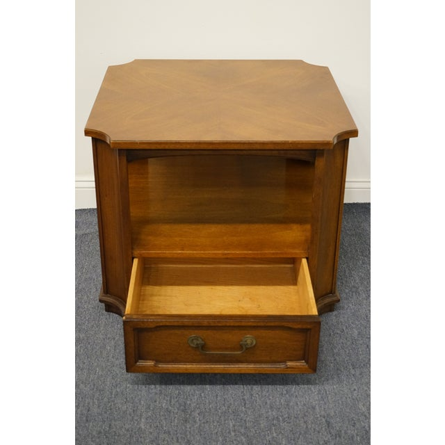 """Drexel Heritage Triune Collection Mahogany 27"""" Square Accent End Table For Sale In Kansas City - Image 6 of 13"""