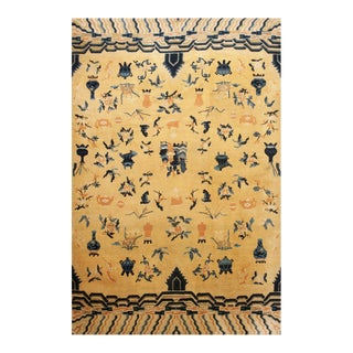 Antique Chinese - Ningxia Rugs 7' 8'' X 11' 0'' For Sale