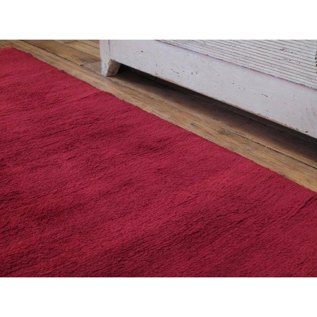 Fantastic Red Tulu Carpet For Sale - Image 4 of 8