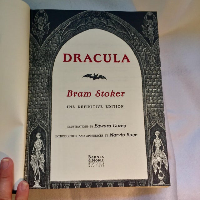 Dracula Book Collector's Edition Illustrated by Edward Gorey For Sale - Image 4 of 6