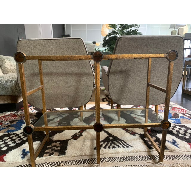 Rustic Small Brass Two-Tier Console For Sale - Image 3 of 10