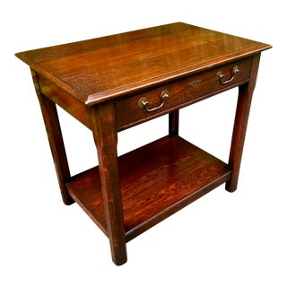 English Oak Center Hall or Accent Table For Sale