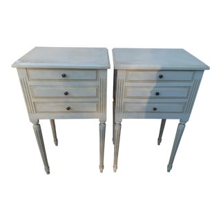 Vintage French Louis XVI Style Side Tables - A Pair