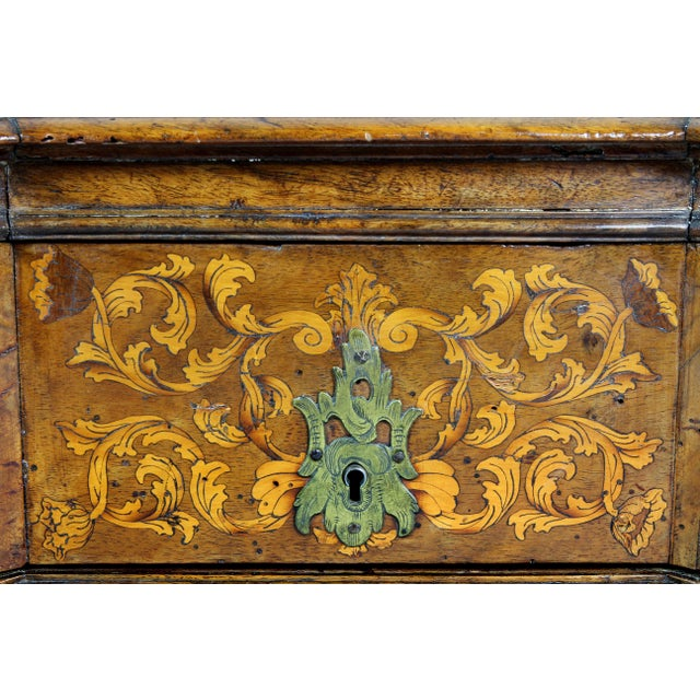 Dutch Rococo Walnut and Marquetry Document Box For Sale - Image 10 of 13