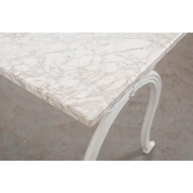 French 19th Century White Marble-Top Bistro Table For Sale In Baton Rouge - Image 6 of 13