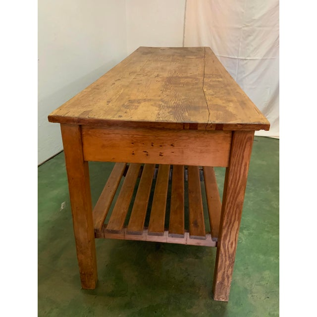 19th Century Rustic Pine Table / Sideboard For Sale - Image 4 of 13