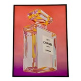 Image of Chanel Perfume Advertisement Framed Painting For Sale