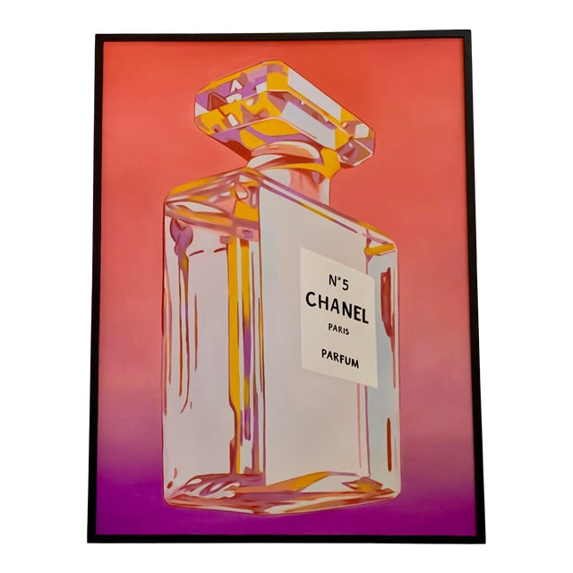 Chanel Perfume Advertisement Framed Painting For Sale