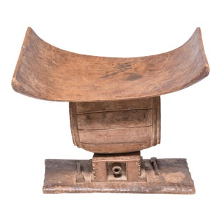 Nigerian Ashanti Drum Stool For Sale