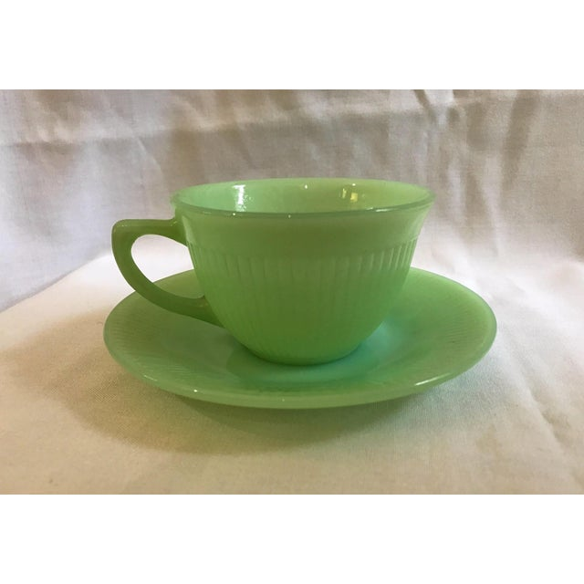 Jadeite Fire King Anchor Hocking Cup & Saucer Set - Image 2 of 9