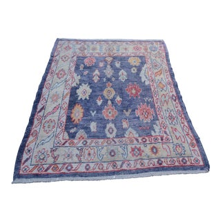 Modern Turkish 'Merla' Oushak Rug- 5′4″ × 6′11″ For Sale