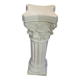 "Neoclassical Roman Column Motif 28"" Plant Stand For Sale"