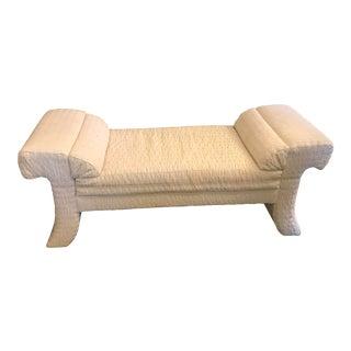 Vintage Mid Century Upholstered Boudoir Bench For Sale