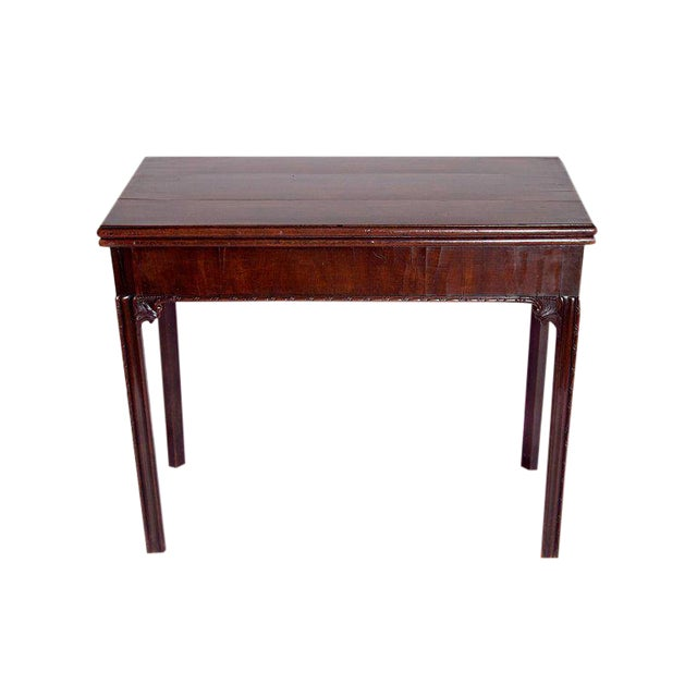 18th Century George III Mahogany Concertina Action Card Table For Sale