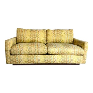 Milo Baughman for Thayer Coggin Woven Jacquard Loveseat For Sale