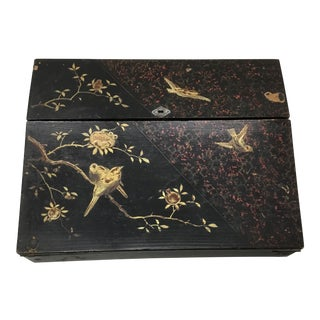 19th Century Antique Japanese Lacquer Box / Lap Desk For Sale