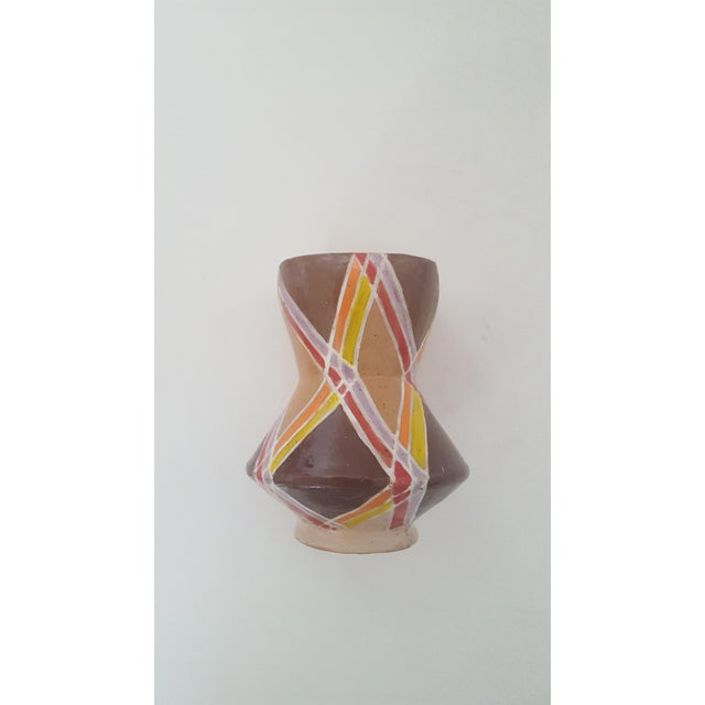 Vintage Studio Pottery Small Sculptural Vase Vessel For Sale - Image 10 of 10