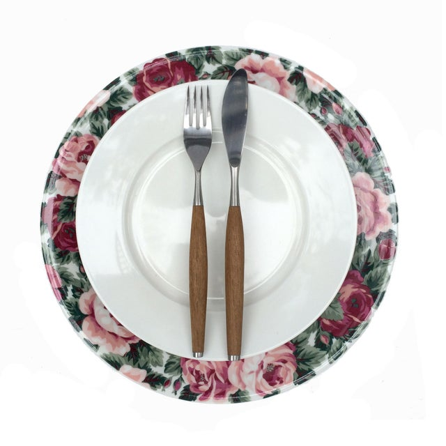 Contemporary Vintage Rose Garden Dinner Plates by Block Spal - Set of 4 For Sale - Image 3 of 10