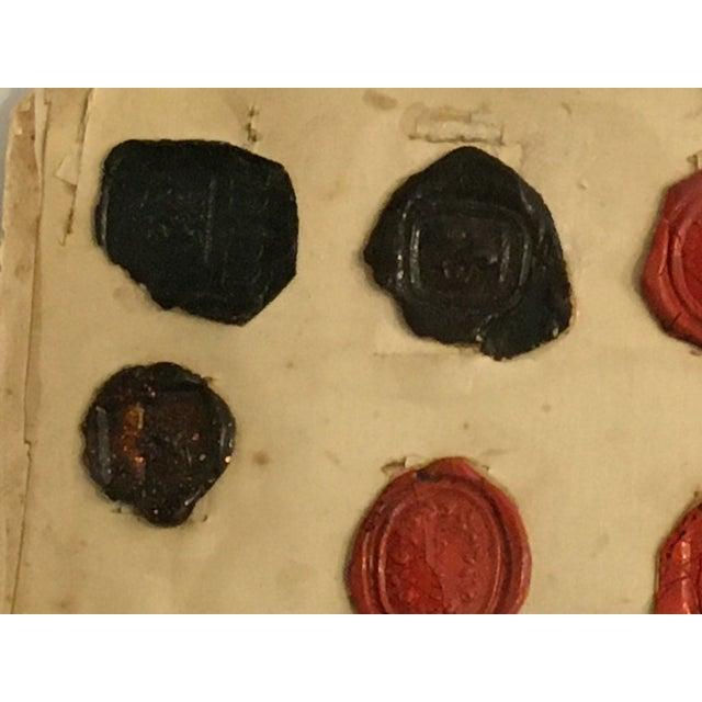 Antique English Multi Color Intaglio Wax Seals For Sale - Image 4 of 13