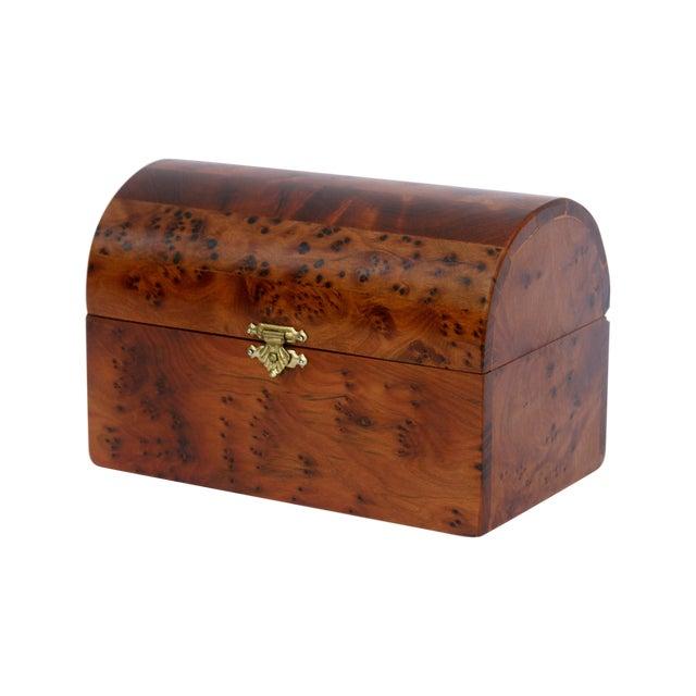 Decorative Juniper Burl Wood Box - Image 1 of 10