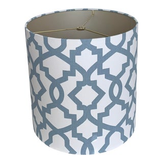 Cashmere Blue Sheffield Drum Lamp Shade For Sale