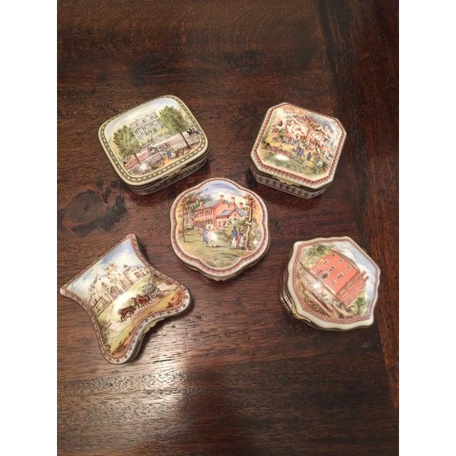 Vintage Porcelain De Paris Boxes - Set of 5 For Sale - Image 12 of 12