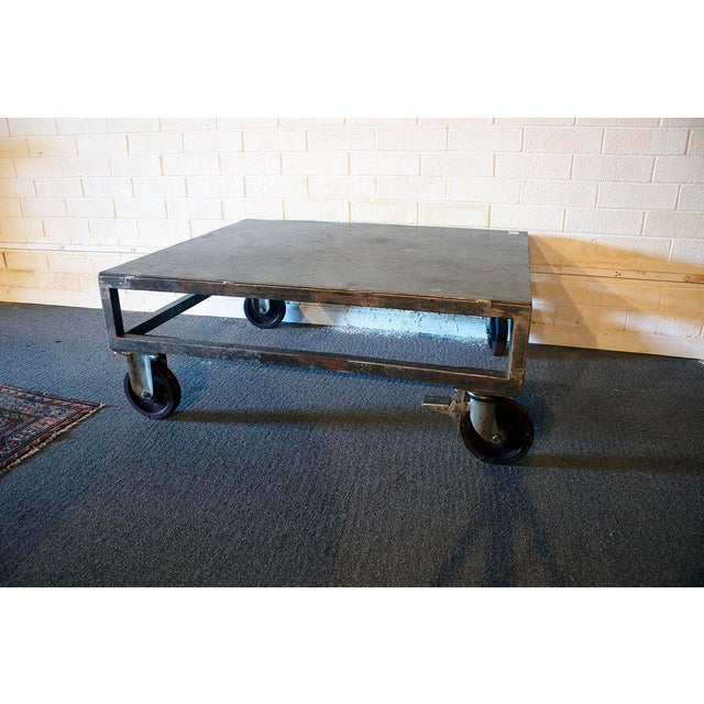 1940s Industrial Cocktail Table For Sale - Image 4 of 4