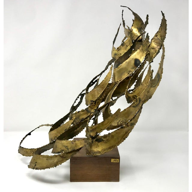 1960s Brutalist Bijan Brass Abstract Sculpture For Sale - Image 12 of 12