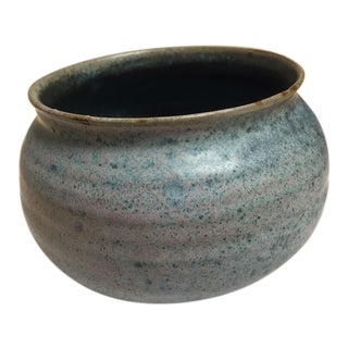 Late 20th Century Mid-Century Pottery Decorative Bowl For Sale