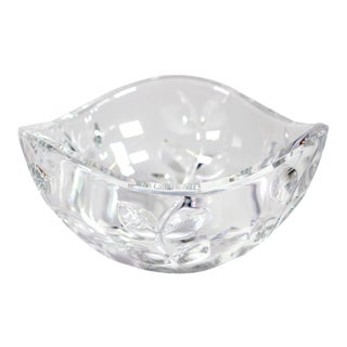 Reidel for Tiffany & Co. Crystal Bowl in Floral Vine Pattern For Sale