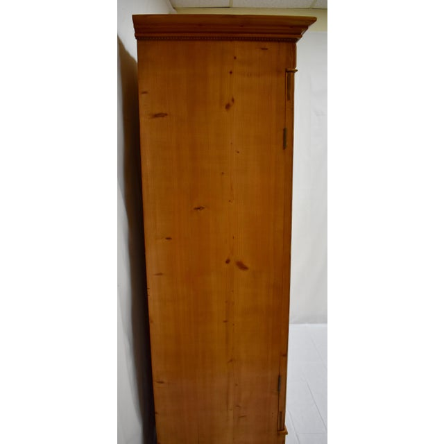 Pine Two Door Armoire With Art Glass Panels For Sale - Image 4 of 13