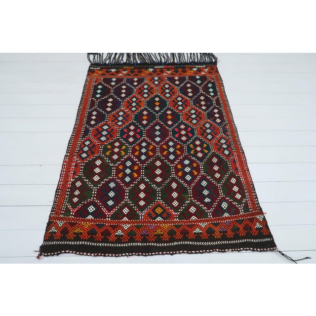 Textile Vintage Turkish Kilim Rug For Sale - Image 7 of 13