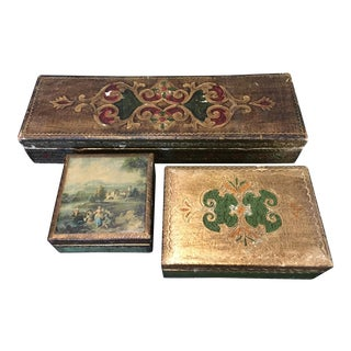 Collection of Vintage Italian Venetian Boxes - Set of 4