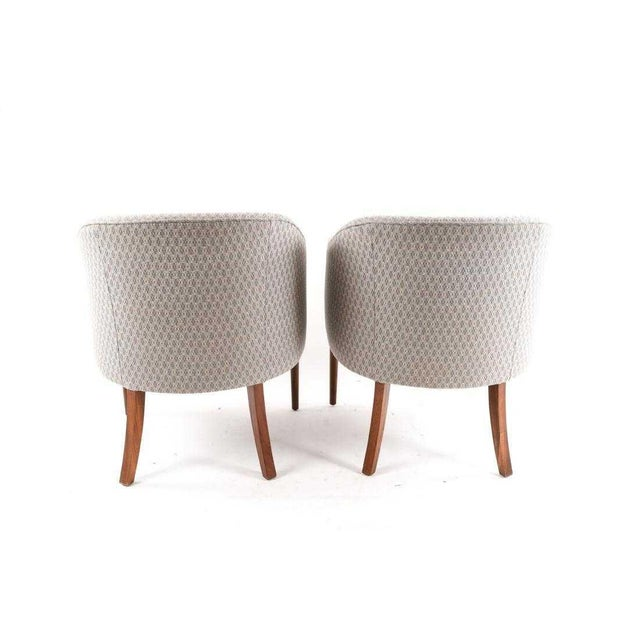 Mid-Century Modern Mid-Century Vintage Ward Bennett Style Chairs- A Pair For Sale - Image 3 of 9