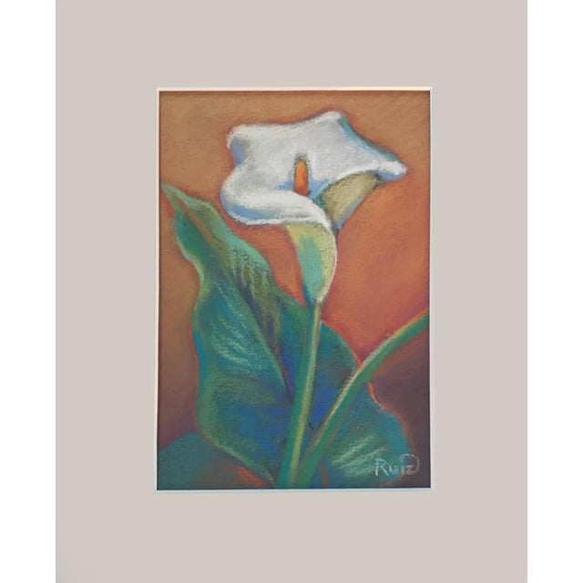 Impressionism Calla Lily Pastel Drawing For Sale - Image 3 of 3