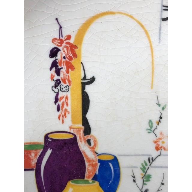 Orange Paden City Pottery Southwestern Mexico Transferware Design Platter For Sale - Image 8 of 13