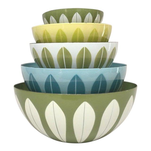 Cathrineholm Scandinavian Modern Enamel Nesting Bowls - Set of 5 For Sale